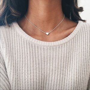 Heart charm necklace ✨